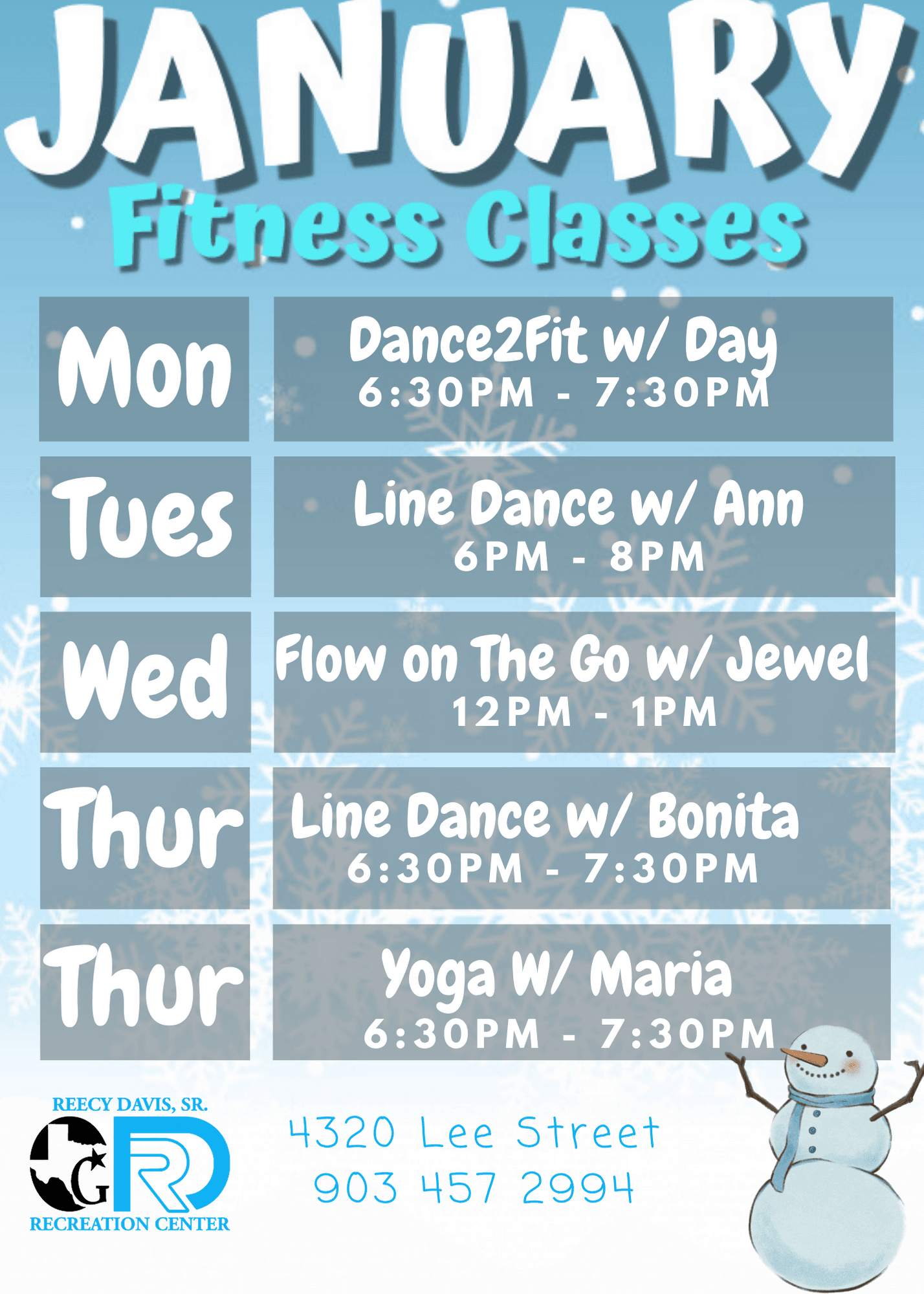 January Classes  (1)