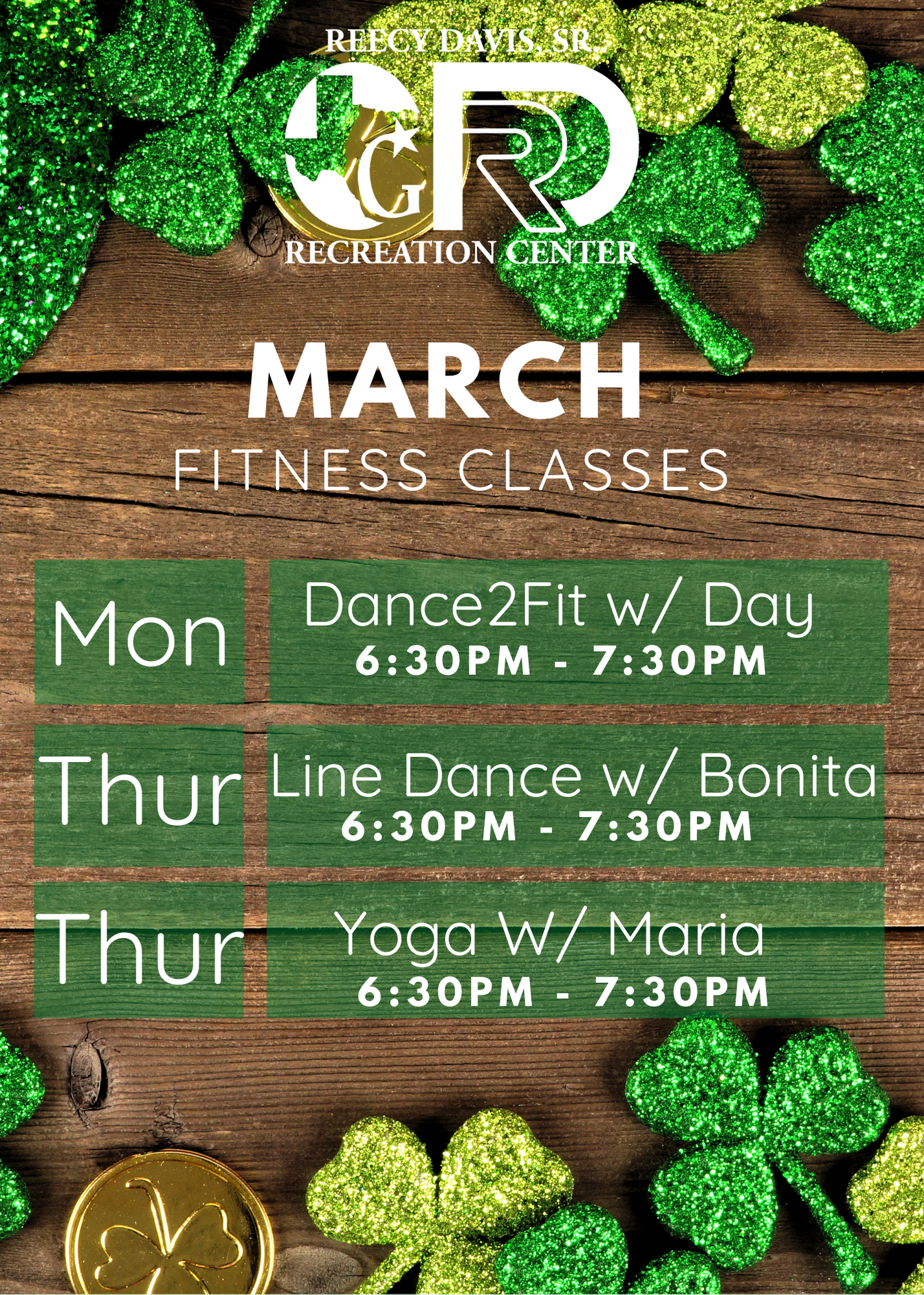 March Fitness classes